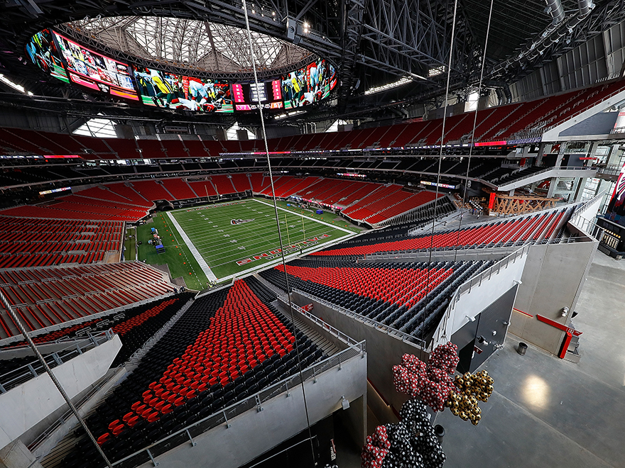 Mercedes Benz Stadium Walkthrough Tour Peachtree Road