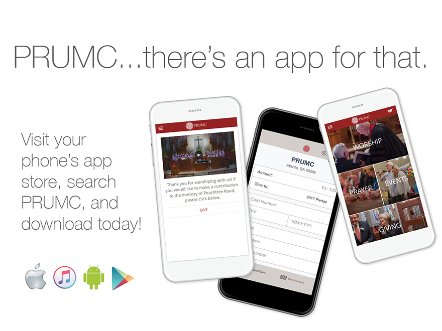 Download the PRUMC App from your phone's app store today!