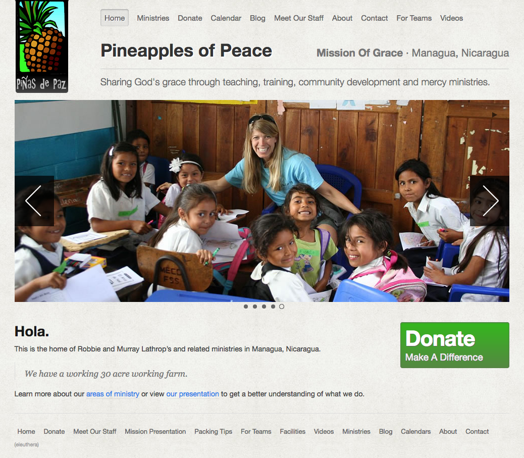 Pineapples for Peace Website