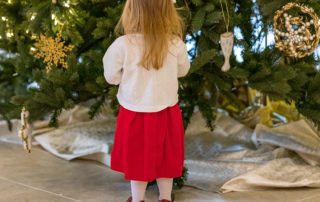 Christmas Tree Little Girl