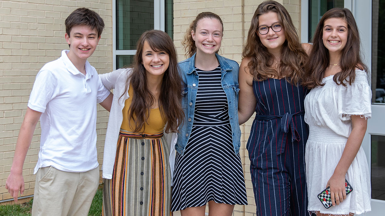Youth begin a new school year with friends and leaders at Peachtree Road.