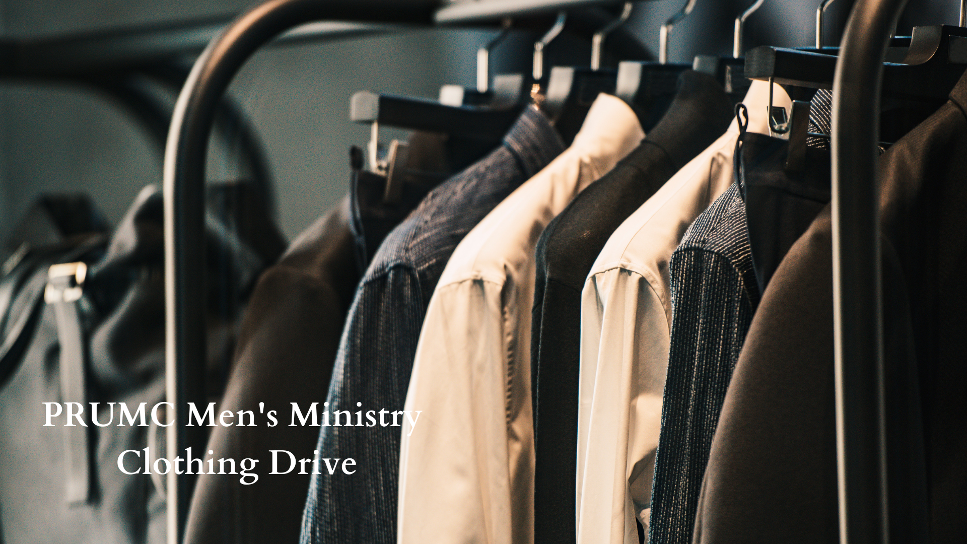 Men's Ministry Clothing Drive
