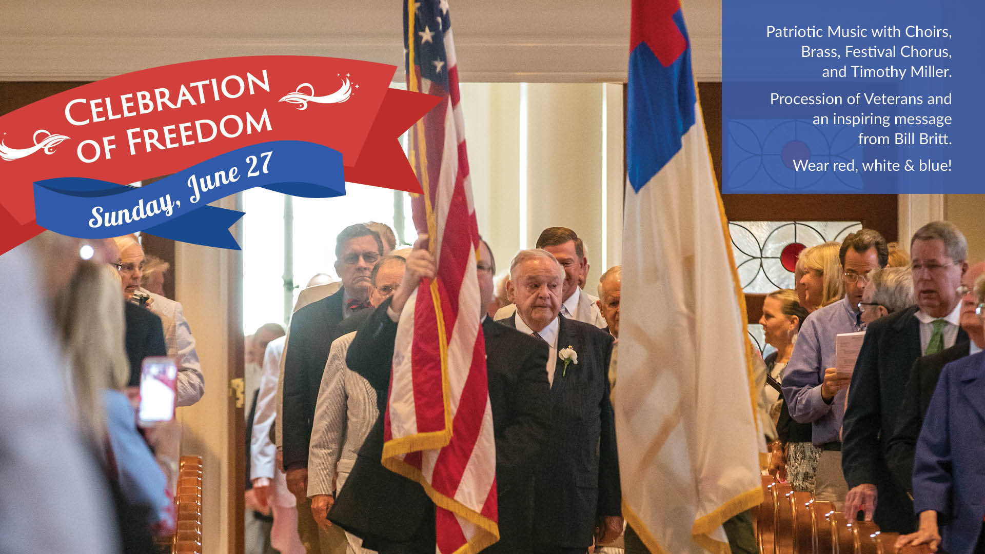 Celebration of Freedom Procession of Veterans